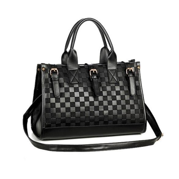 Womens Handbags Fashion Black PU Leather Hand bag Shoulder Bag messenger