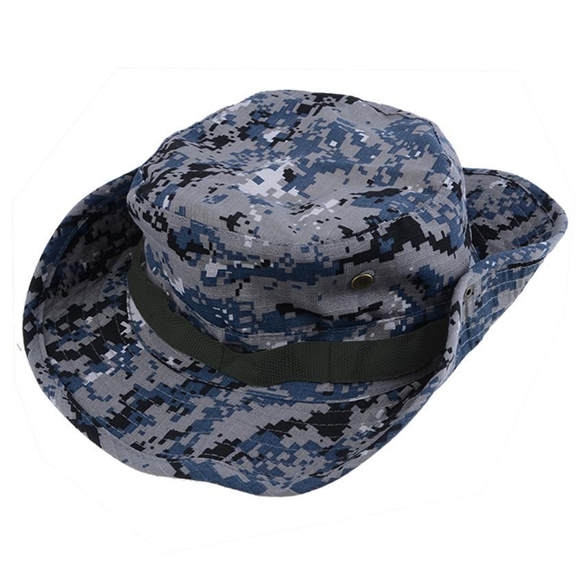Men 39 s fashion sun hat fishing hiking snap brim army boonie for Fishing sun hat