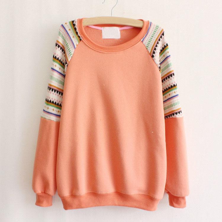 Womens Korean Fashion Long Sleeves Knitted Knitwear Sweater Hoodies Sweatshirts