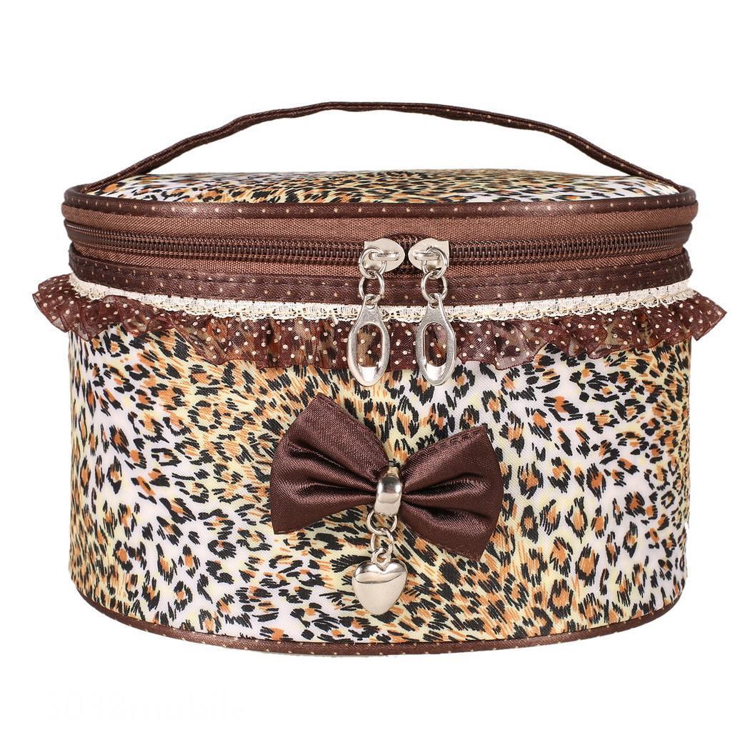 Lace Bowknot Women's Travel Makeup Storage Case Cosmetic Bag Organizer Cute