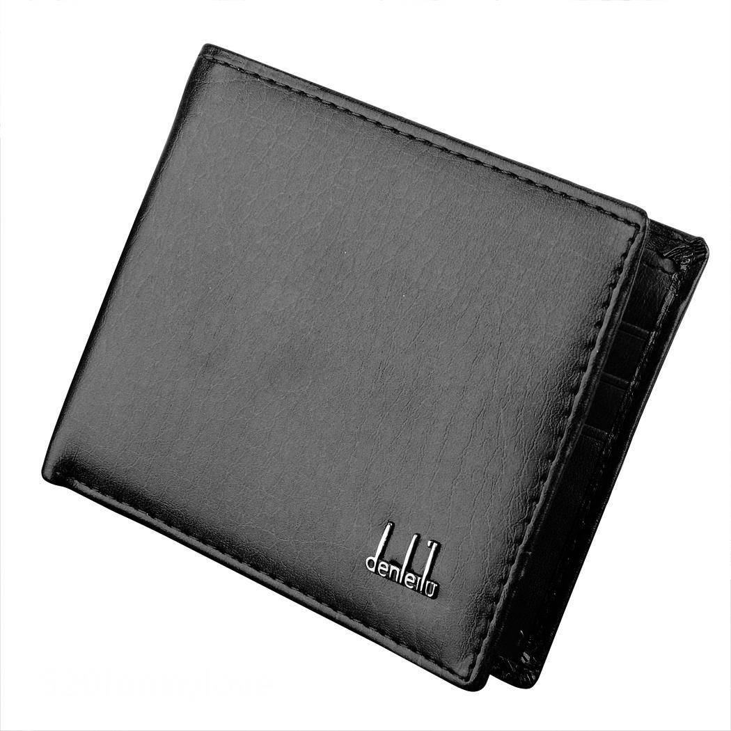 2 Colors Classic Man Men's Faux Leather Business Wallet Purse Pocket Case Bag