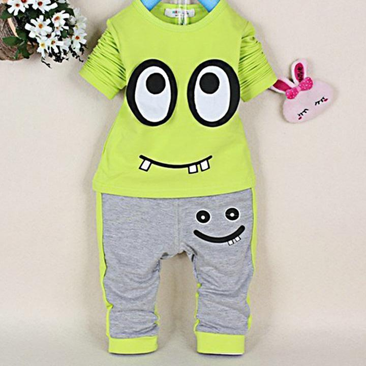 Cute Baby Boys Long sleeve Tops+Pants Set Suit Coat Jacket  Children's Clothes