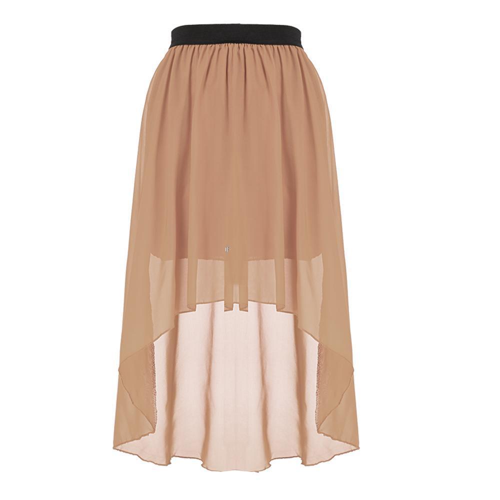 new chiffon pleated retro maxi dress elastic waist