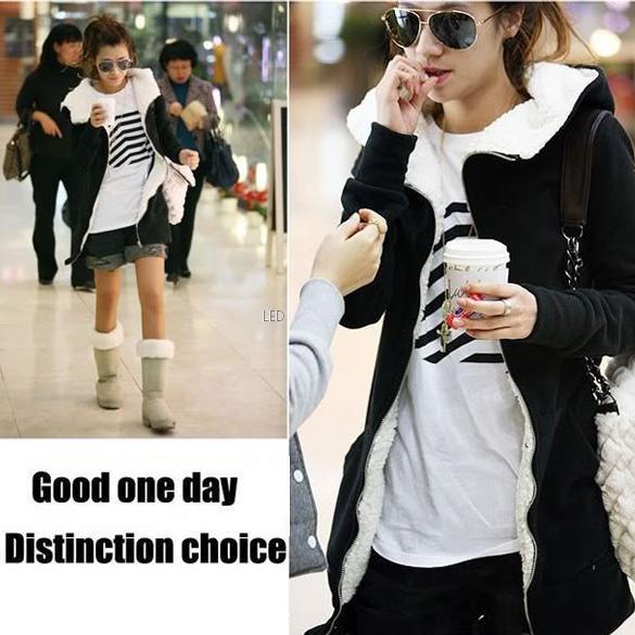 New Fashion Women Long Zip Tops Hoodie Coat Jacket Outerwear Sweatshirt