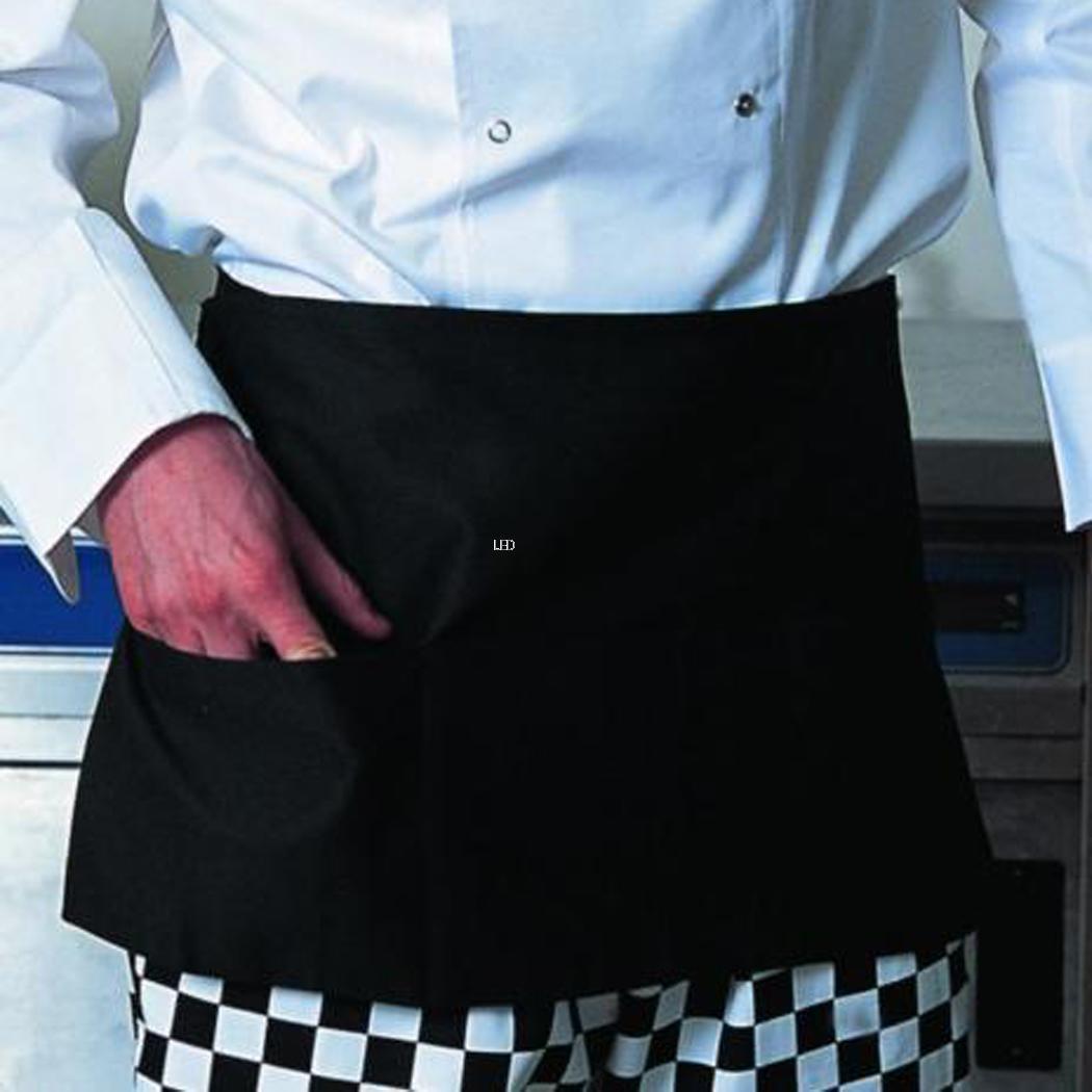 White apron ebay.ca - 2 Pockets Waterproof Black Waiter Waitress Server Waist Apron Kitchen Arpon Led