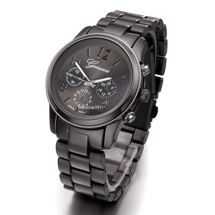 New Geneva Silver Gold Rose Women Girl Unisex Stainless Steel Quartz Wrist Watch