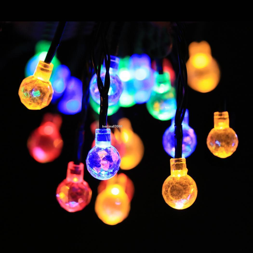 Solar powered string lights for garden home christmas for Decoration lights