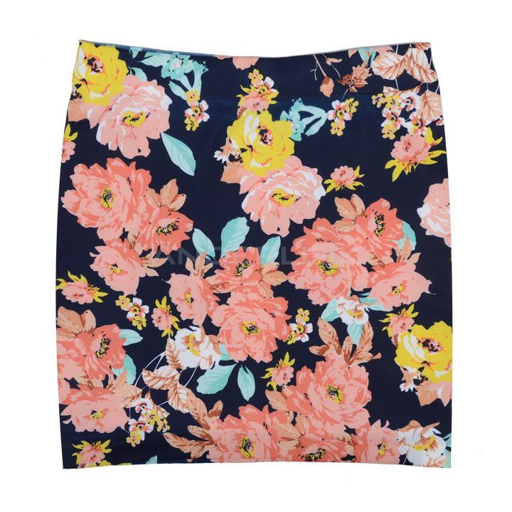Women's Sexy High Waist Flower Printing Skinny Mini Bandage Hip Skirts BB