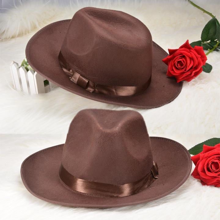 2015 Hot Selling Women Men Unisex Retro Style 2 Colors Fedora Jazz Hat