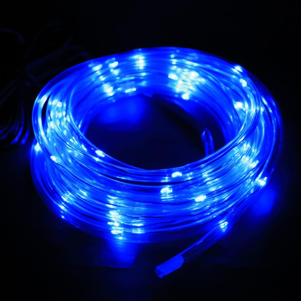 New 7m 50 solar led rope light multi color christmas party for Outdoor decorating with solar lights