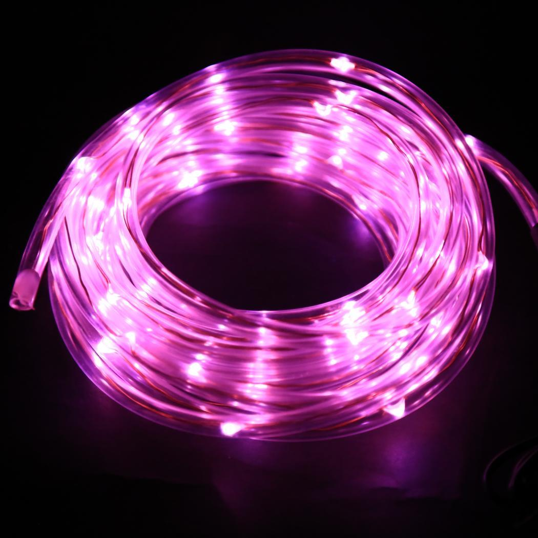 New 7m 50 solar led rope light multi color christmas party for Multi color led landscape lighting