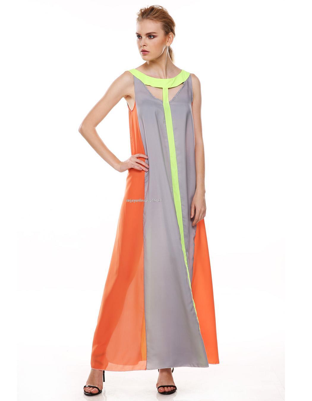 Womens Boho Long Maxi Dress Evening Cocktail Party Beach Chiffon Dress NNE1