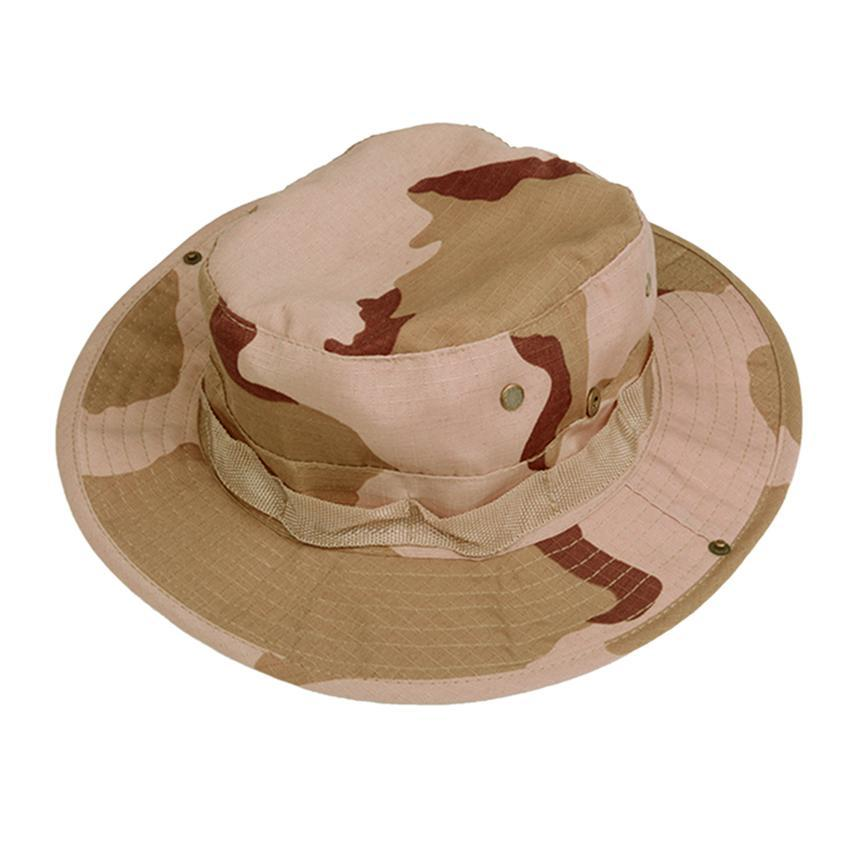 2015 Newest Unisex Outdoor Fishing Hiking Safari Military Bucket Boonie Hat Cap