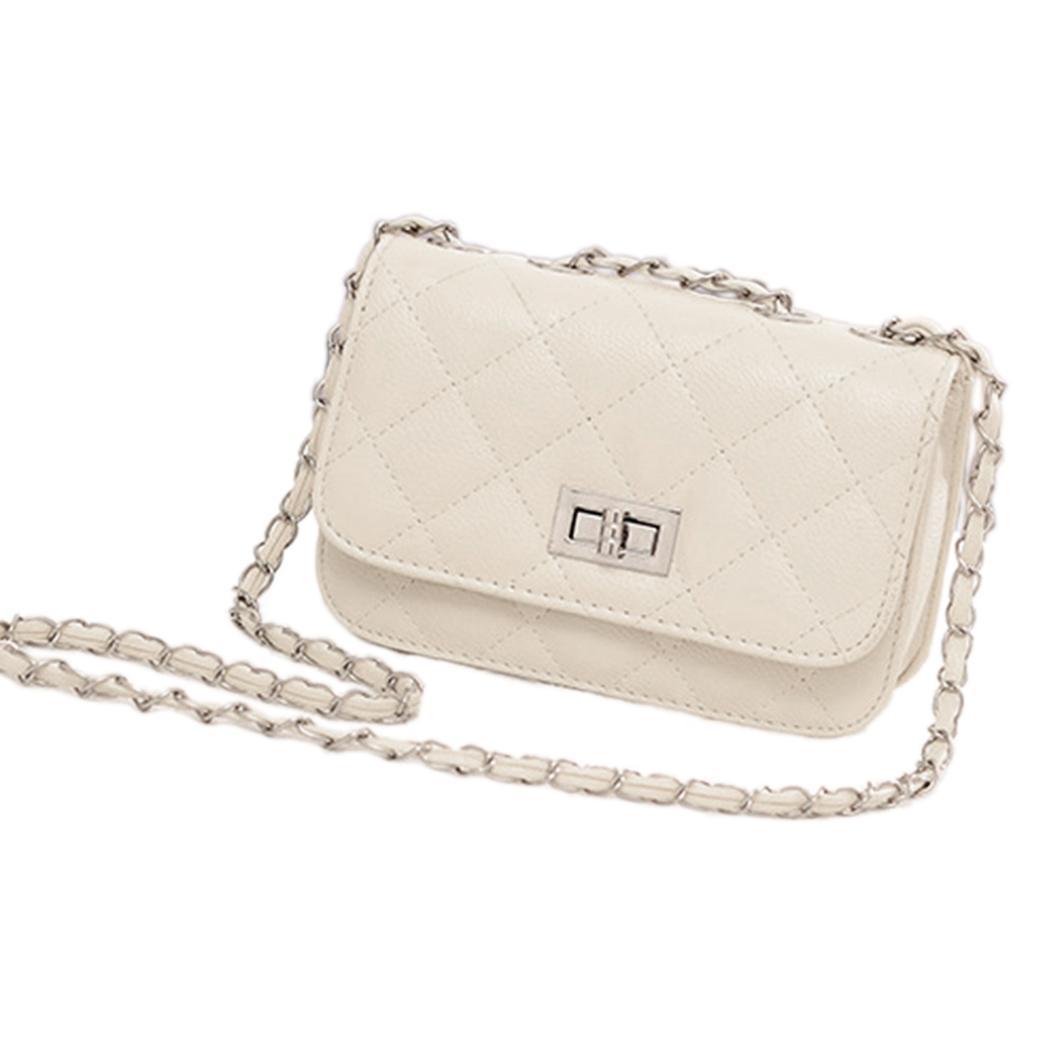 Fashion Women's Leather Cute Mini Cross Body Chain Shoulder Bag Handbag Purse