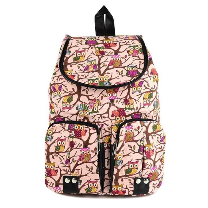 New Fashion Women Style Vintage Casual Canvas Sports School Bag For Teenagers