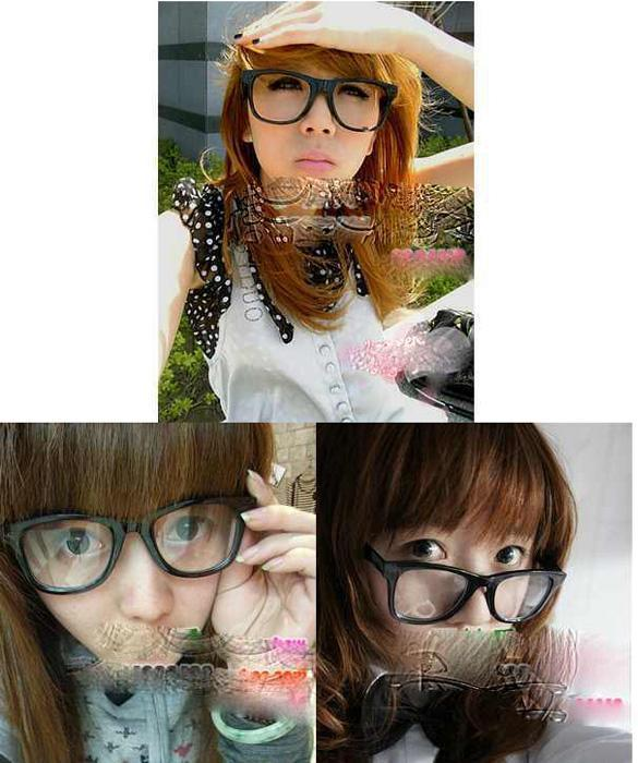 clear glasses frames trend  plain glasses