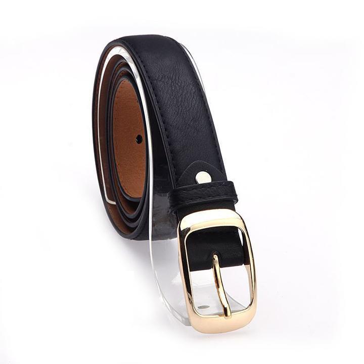 Women's Metal Buckle PU Leather Waistband Waist Band Belt Decor for Dress Jeans