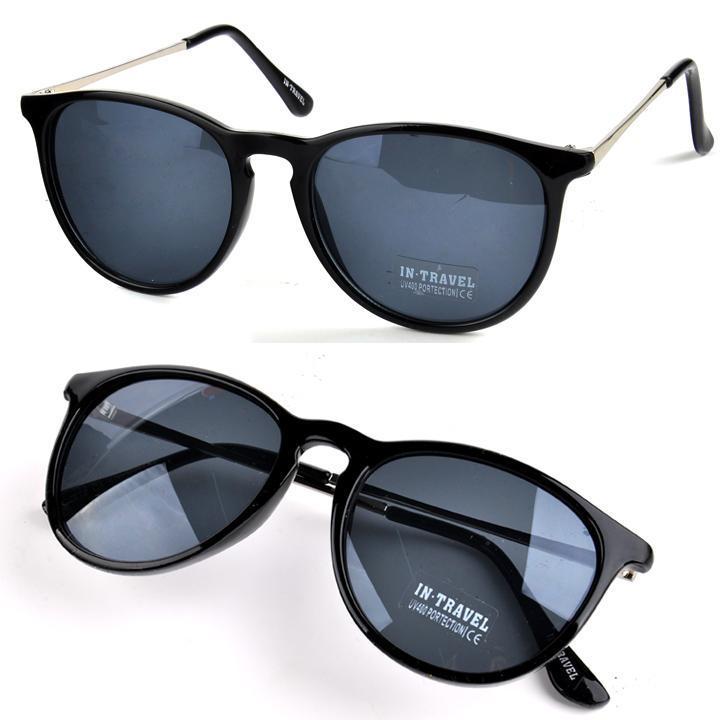 Women Girl Round Eyewear Sunglasses Eyeglasses Metal Frame Leg Spectacles