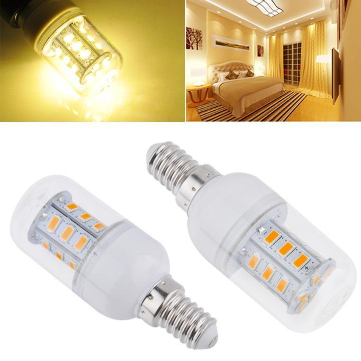 Energy Saving 600LM E14 6W 24-LEDs Lighting LED Corn Bulb Lamps White 220-240V