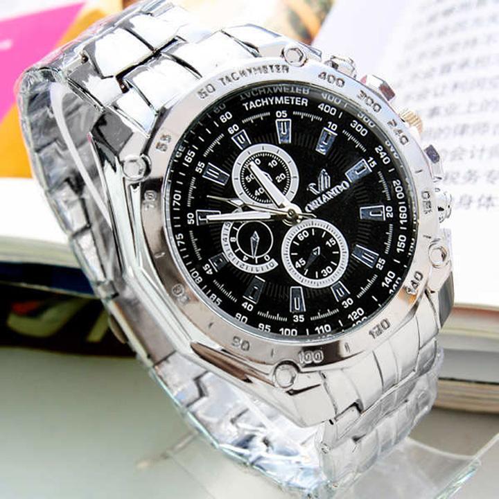 Stainless Steel Belt Bracelet Watch Luxury Sport Analog Quartz Men's Watches
