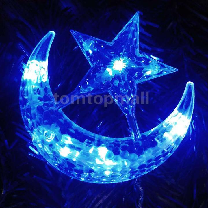 Star Moon String Lights : New 4M LED Moon Star Christmas Party Decor Bar Indoor String Fairy Curtain Light eBay