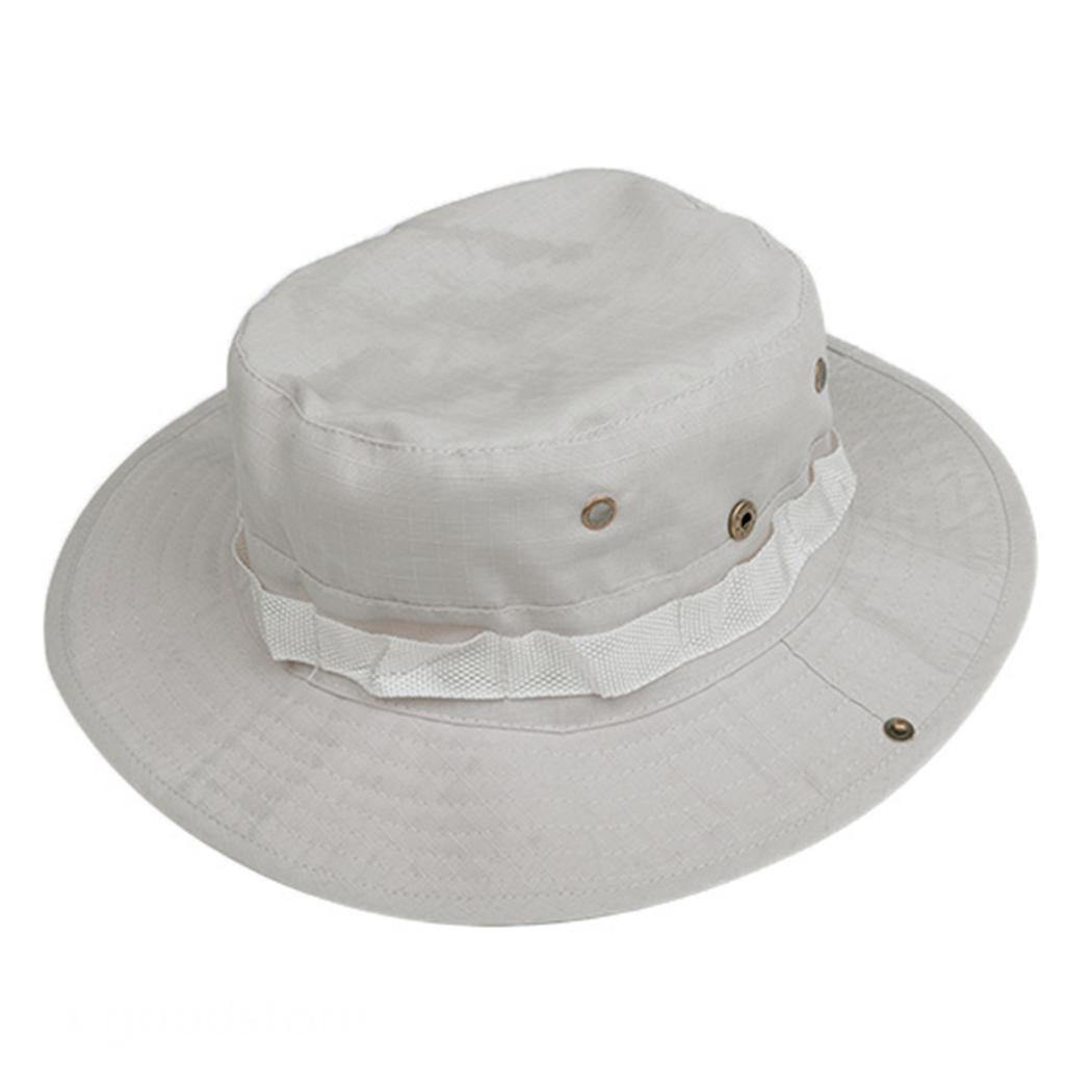 Bucket canvas hat cap fishing boonie brim sun safari for Fishing boonie hat