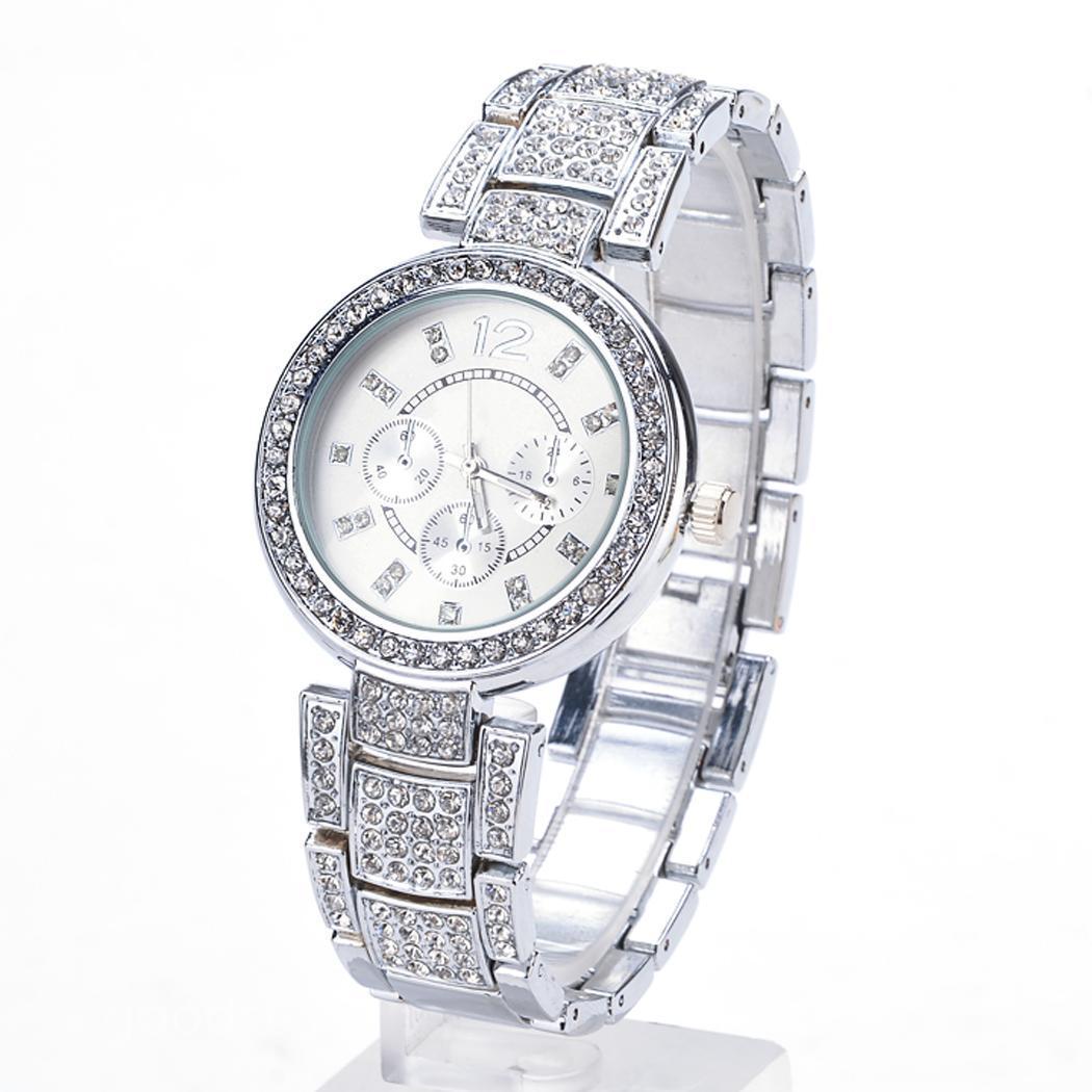 Women Ladies Casual Luxury Quartz Crystal Wristwatch Rhinestone Quartz Watches