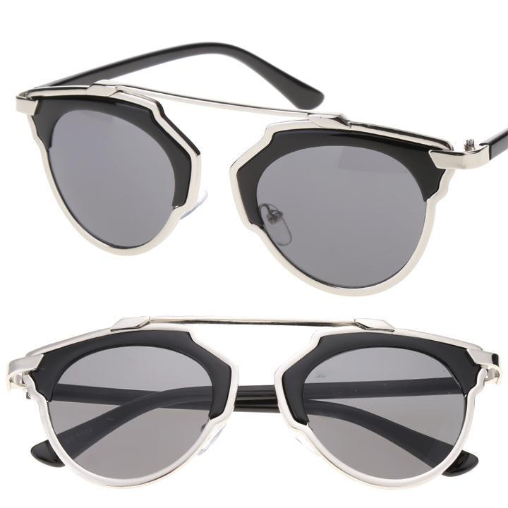 2015 Women's Men's Cat Eye Sunglasses Mirror Leons Frame Shades Glasses Decor